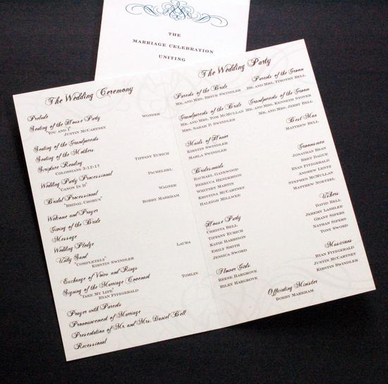 Image Of Whitney Wedding Program